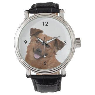 Fotografía mullida del perrito de Brown Reloj De Mano