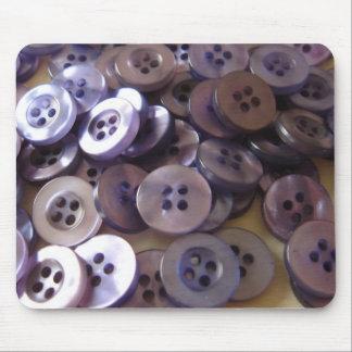 Fotografía nacarada de los botones del vintage tapete de ratones