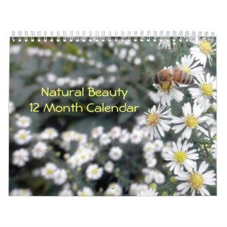 Fotografía natural de la belleza calendario de 12