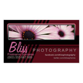 Fotografía negra roja con la plantilla de la foto tarjeta de visita