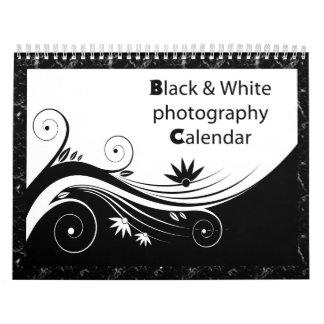 Fotografía negra y blanca calendarios