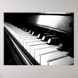 Fotografía negra y blanca con clase del piano impresiones
