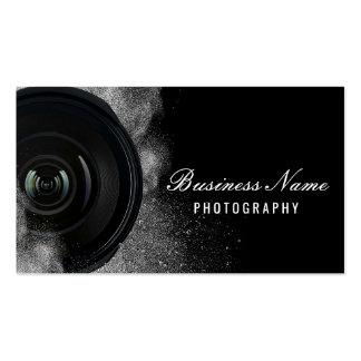 Fotografía negra y blanca de la cámara del tarjetas de visita