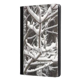 Fotografía nevada de las ramas