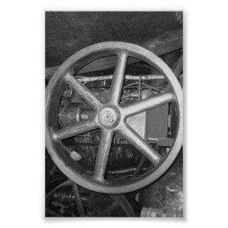 Fotografía O4 4x6 blanco y negro de la letra del Cojinete