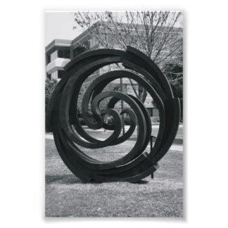 Fotografía O7 4x6 blanco y negro de la letra del Foto