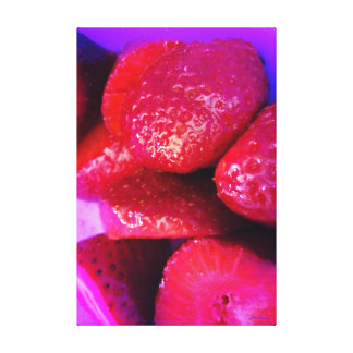 Fotografía original de la fresa lona envuelta para galerias
