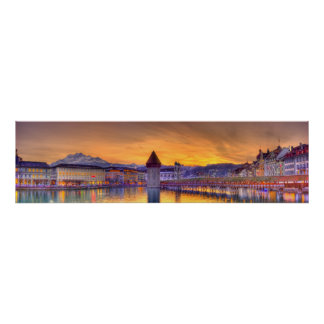 Fotografía panorámica de Alfalfa Suiza HDR Poster
