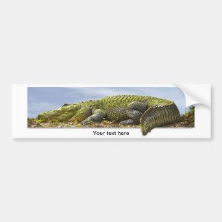 Fotografía panorámica del cocodrilo pegatina de parachoque