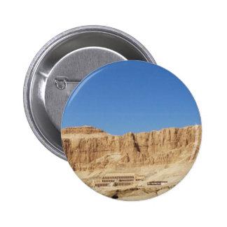 Fotografía panorámica del templo de Hatshepsut Pin Redondo De 2 Pulgadas