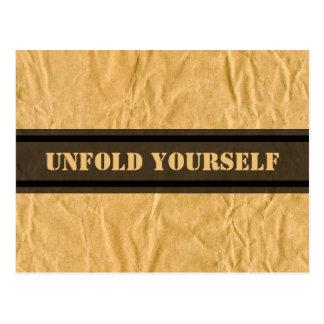 Fotografía - papel de embalaje rizado + sus ideas postales