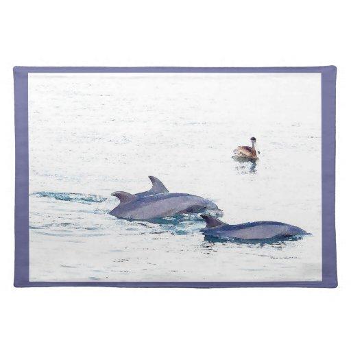 Fotografía Placemat de los delfínes Manteles