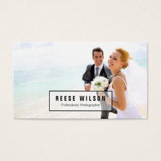 Fotografía profesional del fotógrafo tarjetas de visita