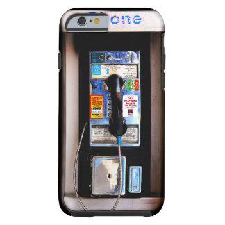 Fotografía pública divertida del teléfono de pago funda de iPhone 6 tough