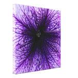 Fotografía púrpura de la macro de la flor impresiones de lienzo