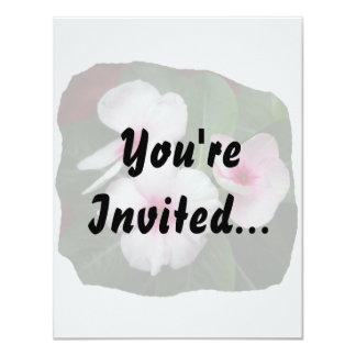 """Fotografía púrpura de las flores de molinillo de invitación 4.25"""" x 5.5"""""""