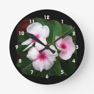 Fotografía púrpura de las flores de molinillo de reloj redondo mediano