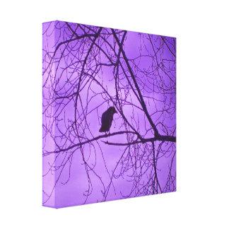 Fotografía púrpura de los árboles del cielo del cu impresion de lienzo