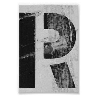 Fotografía R2 4x6 blanco y negro de la letra del a