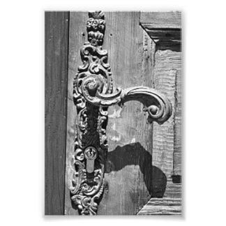 Fotografía R7 4x6 blanco y negro de la letra del a