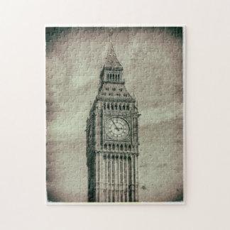 Fotografía retra Big Ben Londres rompecabezas