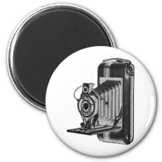 fotografía retra - cámara del vintage imán redondo 5 cm