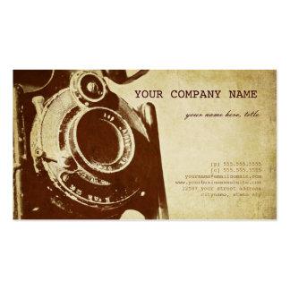 Fotografía retra del vintage plantilla de tarjeta de visita