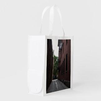 FOTOGRAFÍA reutilizable del bolso del CALLEJÓN de Bolsa Para La Compra
