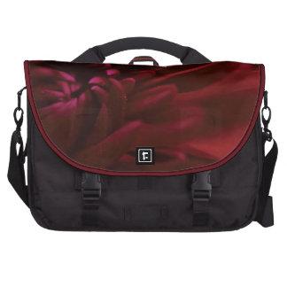 Fotografía roja de la flor bolsas de ordenador