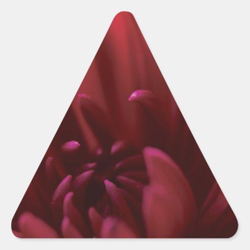 Fotografía roja de la flor pegatina de trianguladas