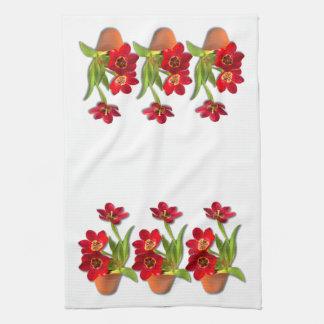 Fotografía roja madura Potted de los tulipanes Toallas