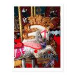 Fotografía rosada y blanca del caballo del carruse postales