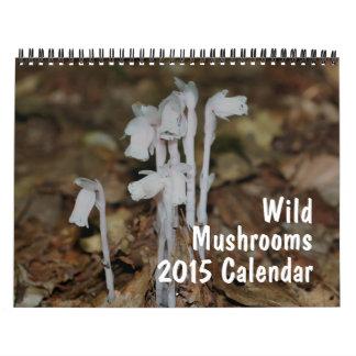 Fotografía salvaje 2015 de las setas calendario de pared