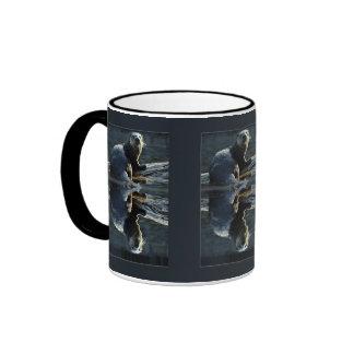 Fotografía salvaje de la nutria de la belleza de taza a dos colores