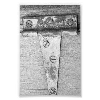 Fotografía T5 4x6 blanco y negro de la letra del a