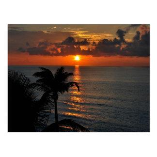 Fotografía tropical del paisaje de la puesta del tarjetas postales