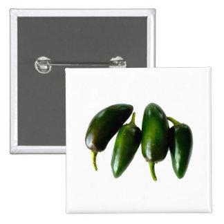 Fotografía verde de cuatro pimientas del Jalapeno Pin