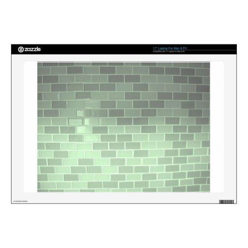 Fotografía verde de la teja calcomanía para portátil