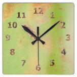 Fotografía verde del Grunge de la soldadura del me Relojes De Pared