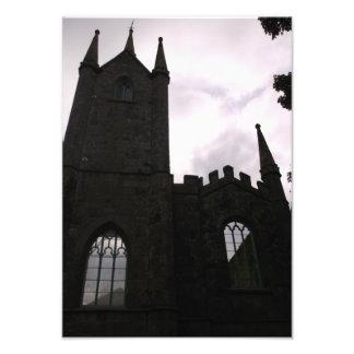 Fotografía vieja de Cornualles de la iglesia del Fotografía