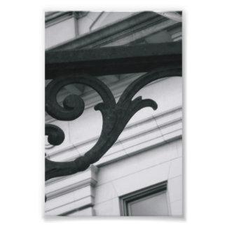 Fotografía Y2 4x6 blanco y negro de la letra del a