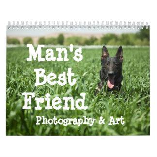 Fotografía y arte del mejor amigo del hombre calendarios de pared