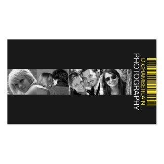 Fotografía y código de barras - amarillo tarjetas de negocios