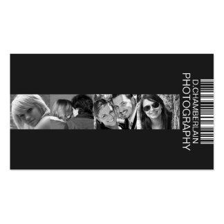 Fotografía y código de barras - blanco tarjeta de visita