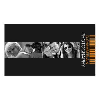 Fotografía y código de barras - naranja tarjeta de visita
