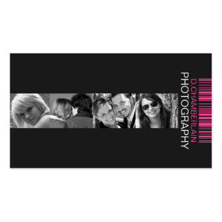 Fotografía y código de barras - rosa plantillas de tarjeta de negocio