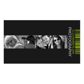 Fotografía y código de barras - verde tarjetas de visita