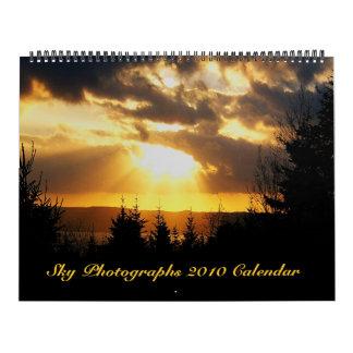 Fotografías del cielo, calendario 2010