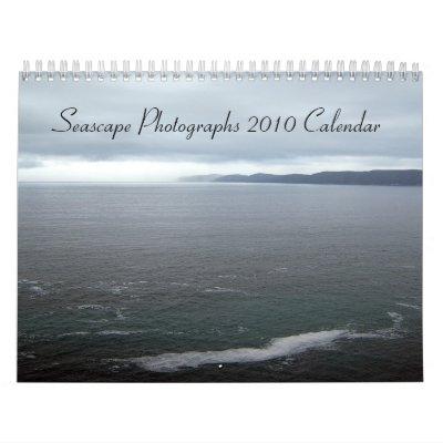 Fotografías del paisaje marino, calendario 2010