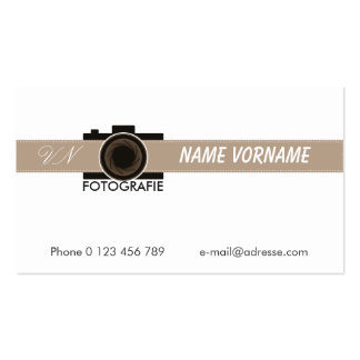 fotografie tarjetas de visita